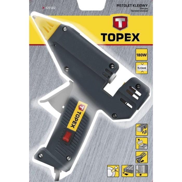 Пистолет клеевой электрический TOPEX 42E502, 11 мм, 180 Вт, 30 г/мин, 220 В