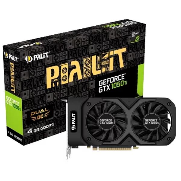 Видеокарта Palit GTX1050Ti Dual 4096M, DVI, HDMI, DP (NE5105T018G1-1071D)