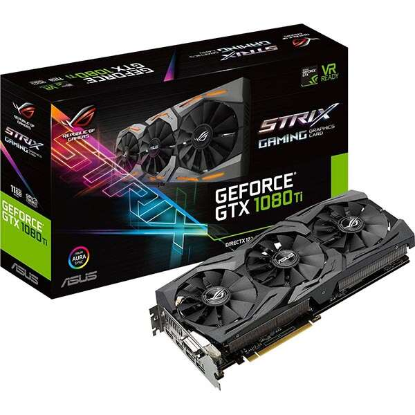 Видеокарта Asus GeForce GTX 1080 Ti Strix Gaming 11Gb