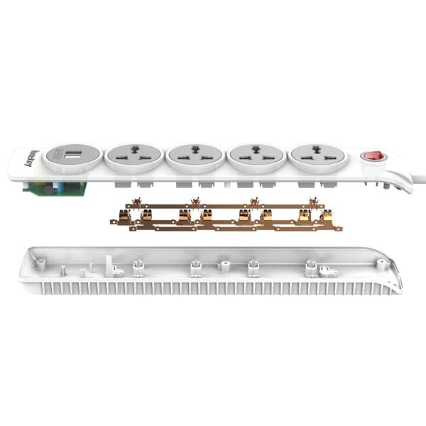 Сетевой фильтр Huntkey SZN507 2*USB 5М