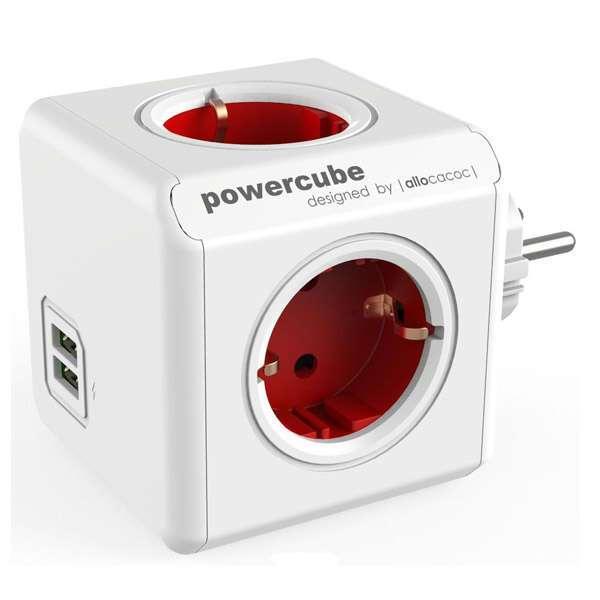 Сетевой разветвитель Allocacoc PowerCube Red