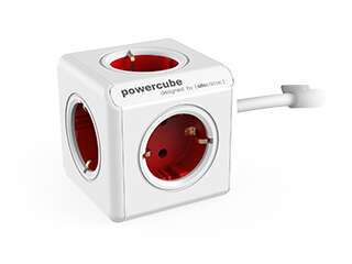 Разветвитель Allocacoc PowerCube Extended с кабелем 1.5М RED