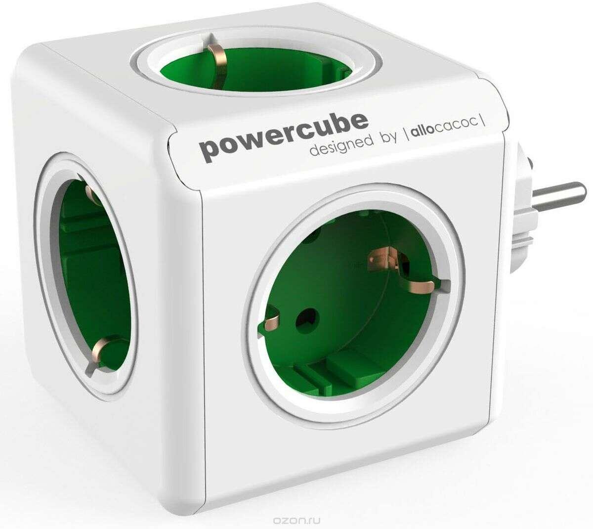 Сетевой разветвитель Allocacoc PowerCube Original GREEN