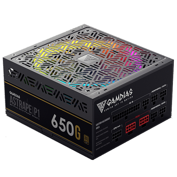 Блок питания ПК Gamdias Astrape P1-650G 80 Plus Gold