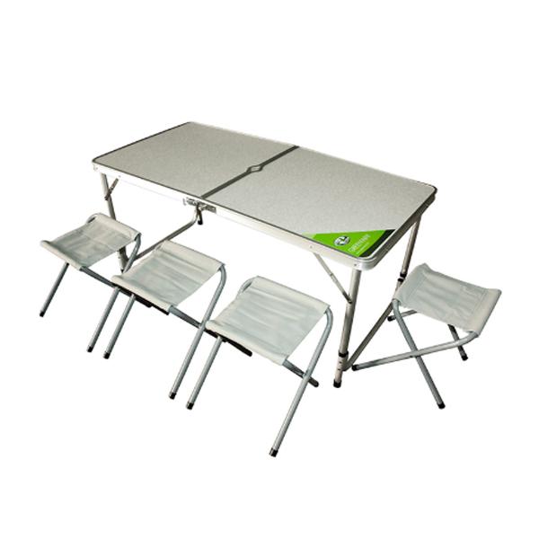 Стол раскладной Green Way + 4 табурета (8812)