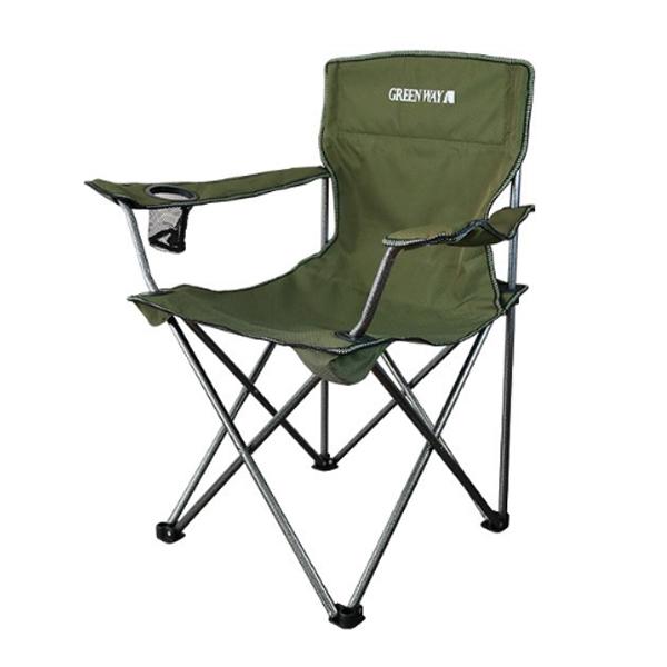 Раскладное кресло Green Way с подлокотниками (6107СМ)