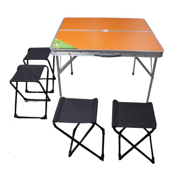 Стол раскладной Green Way + 4 табурета (8833О -4)