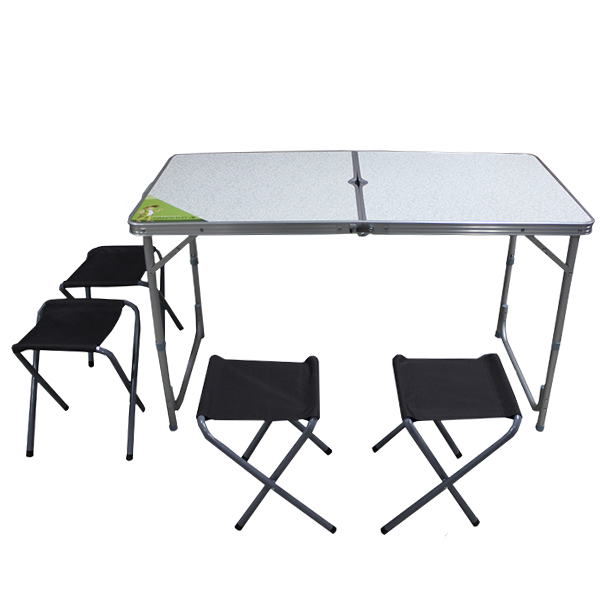Стол раскладной Green Way +4 табурета