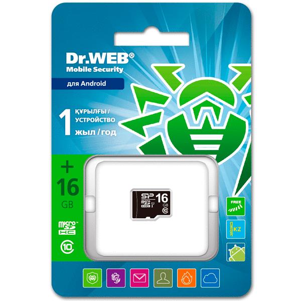 Мобильный Антивирус Dr.Web SiliconPower MicroSD 16GB
