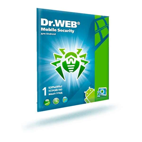 Конверт Dr.Web & МУ Dr.Web Mobile Security на 12 м., 1 МУ + 6 м. на 1 ПК