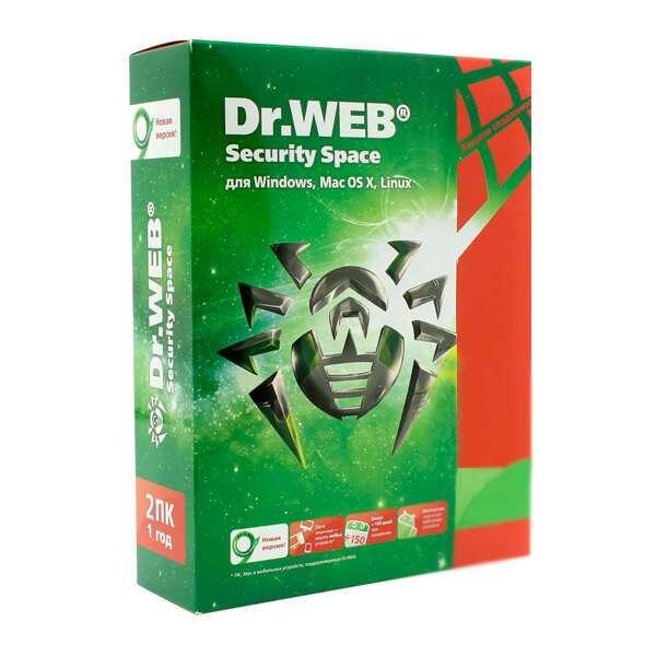 Электронный ключ Dr.Web Security Space на 24 м., 1 ПК, лицензия