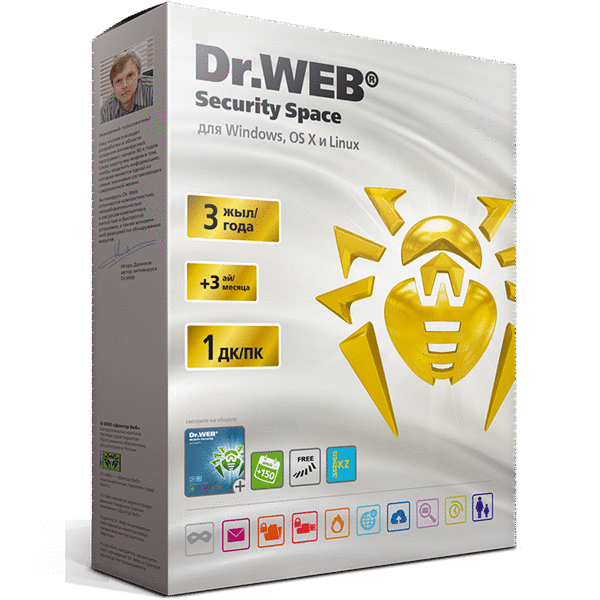 Антивирус Dr.Web Security Space Gold на 39 мес, 1 ПК + 1 МУ