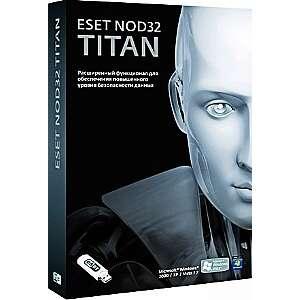 Антивирус ESET NOD32+бита NOD32-EST-NS(BOX(2)-1-1TITAN