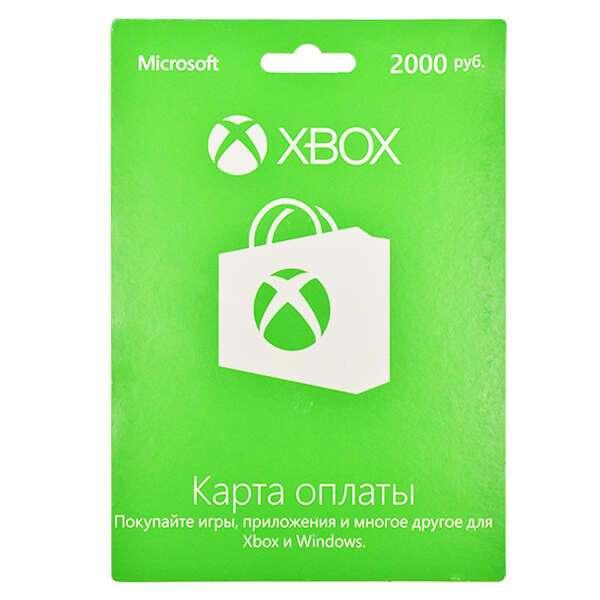 карта подписки Microsoft  Xbox LIVE карта оплаты 2000 рублей K4W-03075