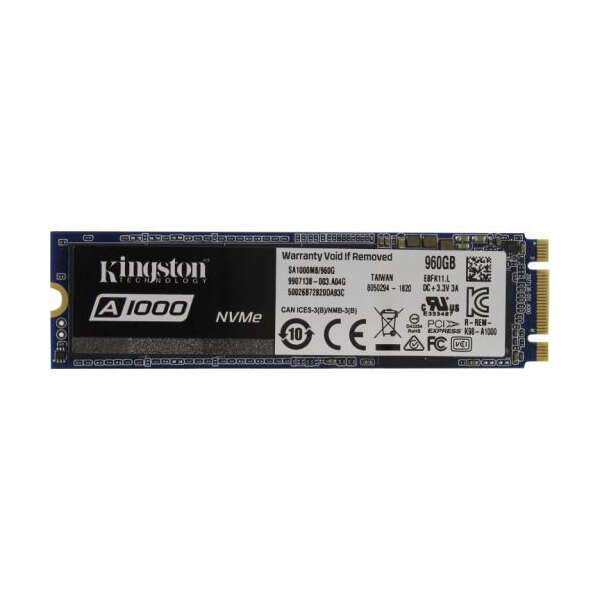 Внутренний диск SSD Kingston (SA1000M8/960G) A1000 960GB NVMe M.2 2280 PCIe 3.0