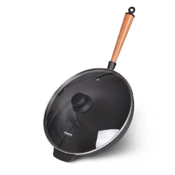 Сковорода-вок с крышкой Fissman 29 см (4140)