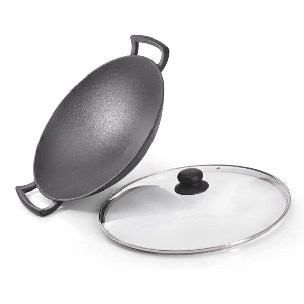 Сковорода-вок с крышкой Fissman 35 см (4145)