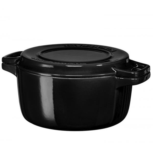 Кастрюля чугунная KitchenAid KCPI40CROB 3.77л Черная