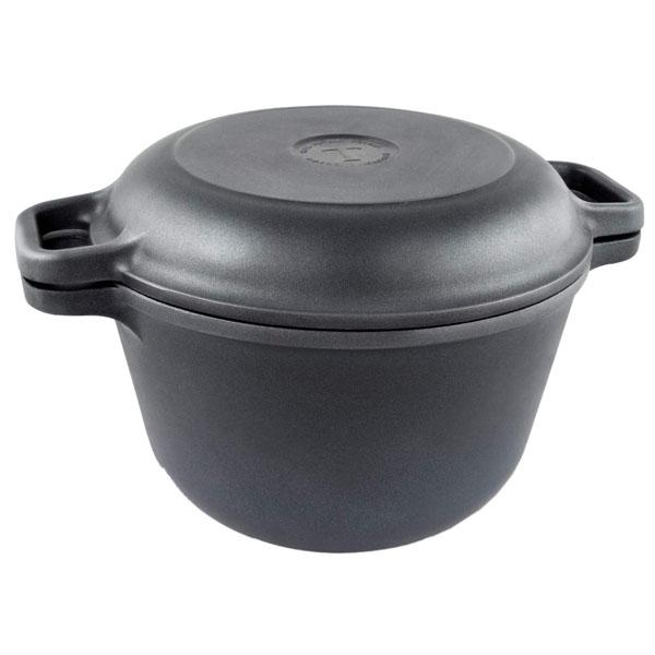 Кастрюля-казан с крышкой-сковородой 3 л НМП 6830