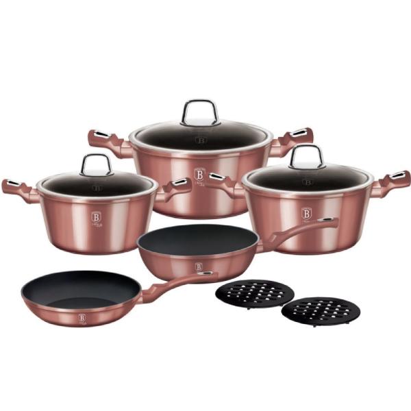 Набор посуды BerlingerHaus L-Rose Edition 10 пр (14-BH-6043)
