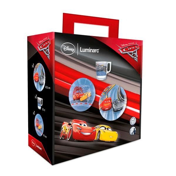 Детский набор Luminarc Disney Cars III N5280