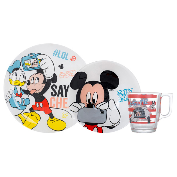 Детский набор Luminarc Disney Party Mickey из 3 предметов (N5278)