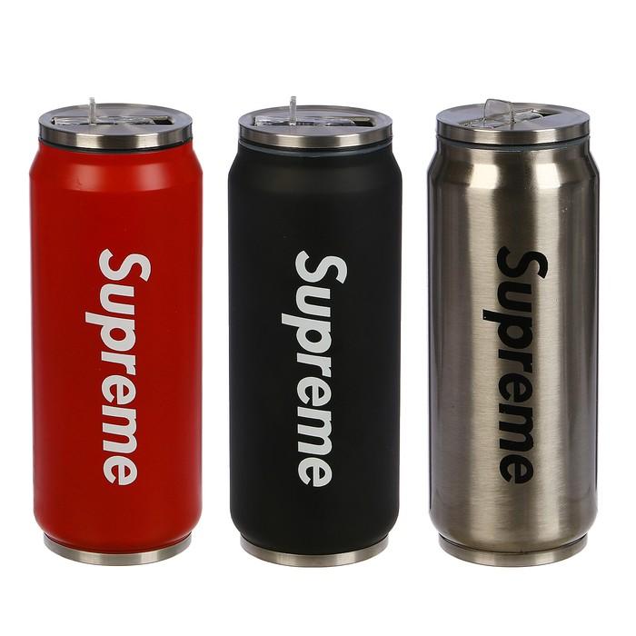 """Термокружка """"Supreme"""", 400 мл, сохраняет тепло 6 ч, металл, нерж сталь, микс, 6.5х18 см"""