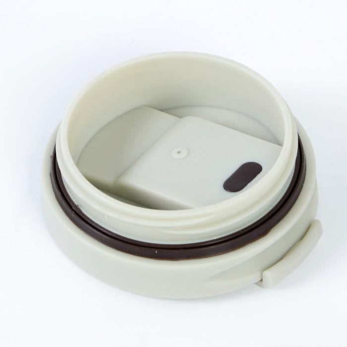 """Термокружка """"Мастер К"""" 500 мл, 304 сталь, белая, 9х20 см"""