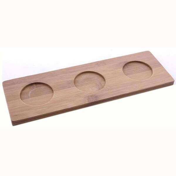 3 Мисочки для закусок на бамбуковой подставке Berghoff COOK&Co 2800052
