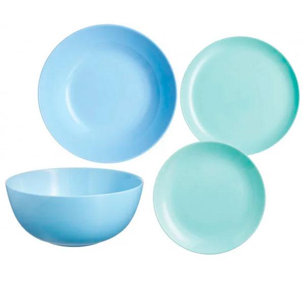 Набор столовой посуды Luminarc Diwali Light Turquoise (19 предметов)