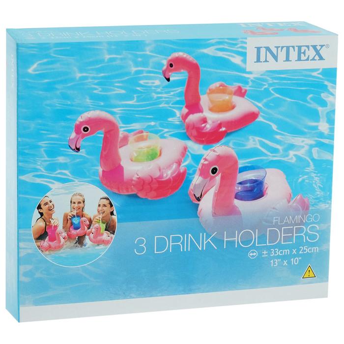 Держатель для напитков плавающий «Фламинго» 33х25 см, от 2 лет, 3 шт. в коробке