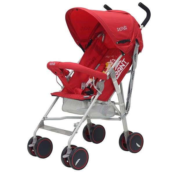 Коляска детская Rant Safari red/красный