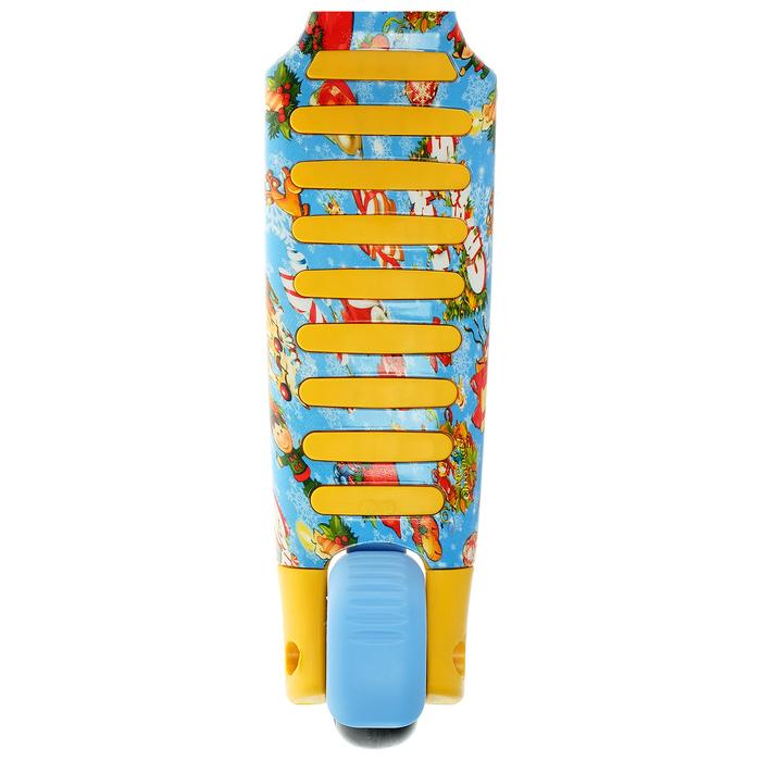 Самокат складной, колёса световые PU d=11/4 см, ABEC 7, складной до 60 кг, цвет жёлтый