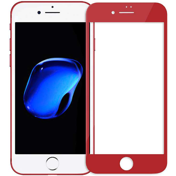 Защитное стекло Remax Gener Anti Blue-ray 3D Glass для iPhone 7/8 Red