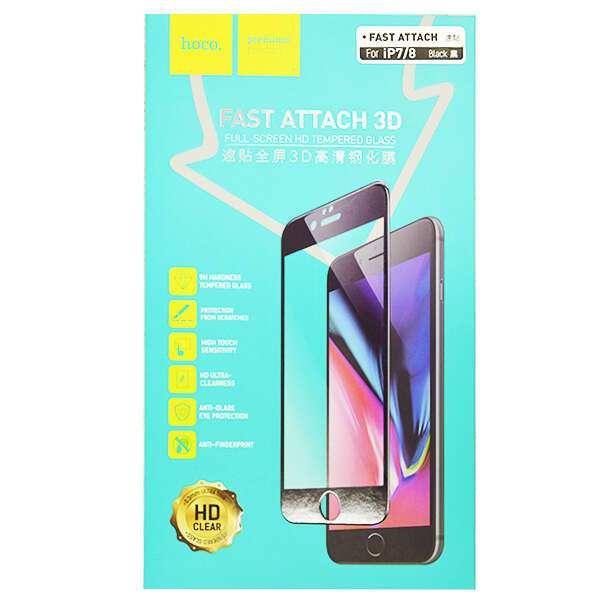 Защитное стекло Hoco для iPhone7/8, черный