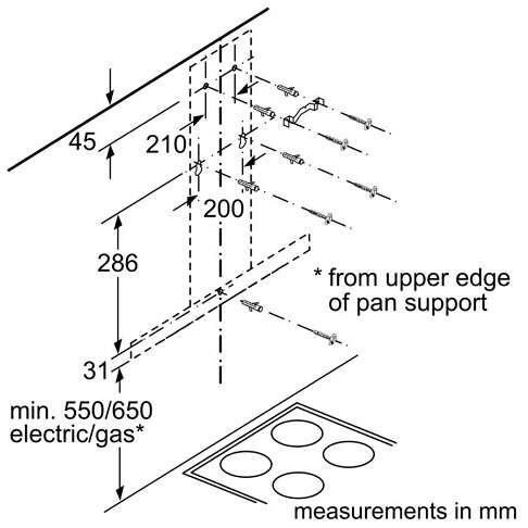 Вытяжка Bosch DWB64BC52