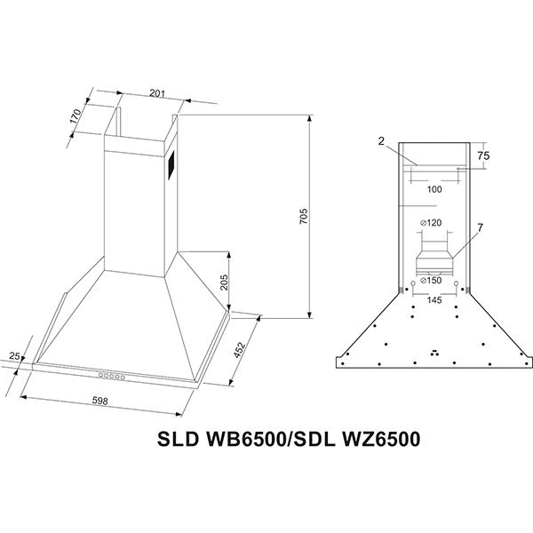 Вытяжка Schaub Lorenz SLD WB6500