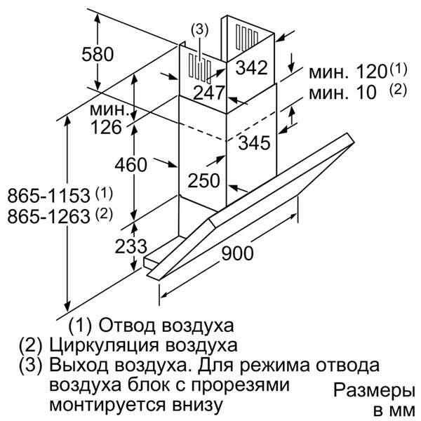 Вытяжка Bosch DWK097E50