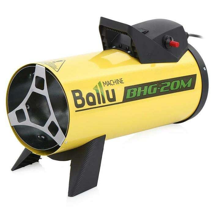 Тепловая пушка BALLU BHG-20M, газовая, 17 кВт, 400 м3/ч, 1.7 кг/ч, 220 В, 200 м2