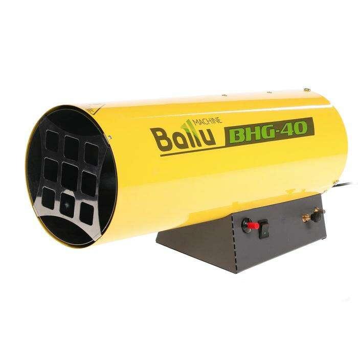 Тепловая пушка BALLU BHG-40, газовая, 33 кВт, 1000 м3/час, 2.5-2.7 кг/ч, 220 В