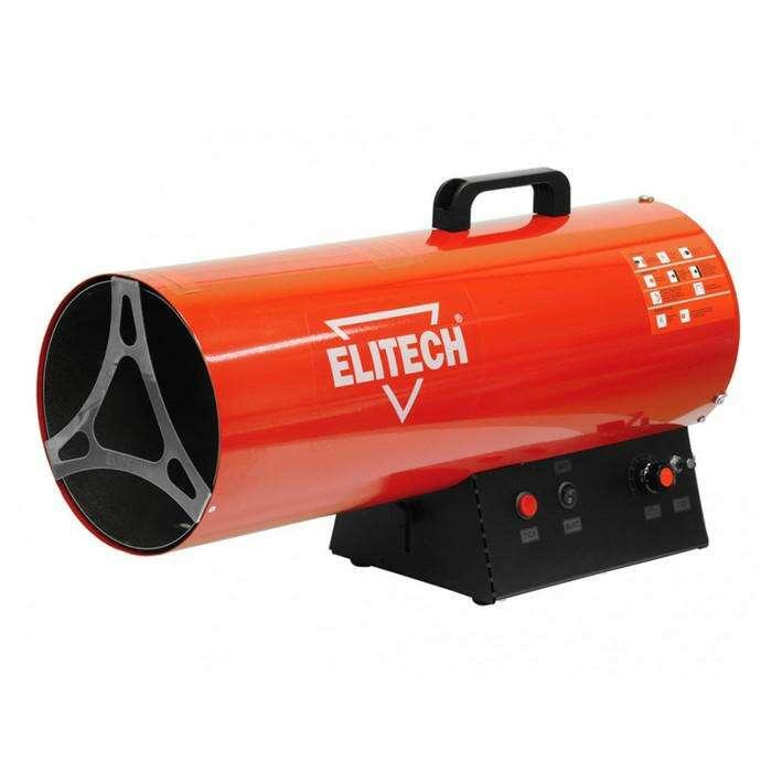 Тепловая пушка Elitech ТП 70ГБ, газовая, 49-69 кВт, 2300 м3/ч, 1.7-5.4 кг/ч, пьезоподжиг