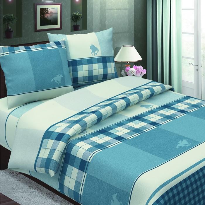 Постельное бельё 2сп Традиция «Поло», цвет синий 175х217, 180х220, 70х70 - 2 шт