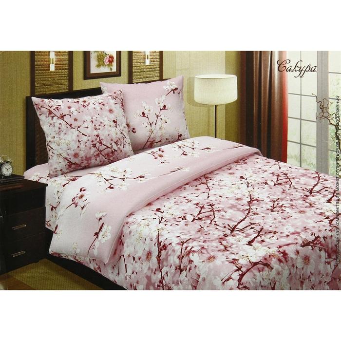 "Постельное бельё 1,5сп""Pastel: Сакура"", цвет розовый, 147х217, 150х220, 70х70см - 2 шт"