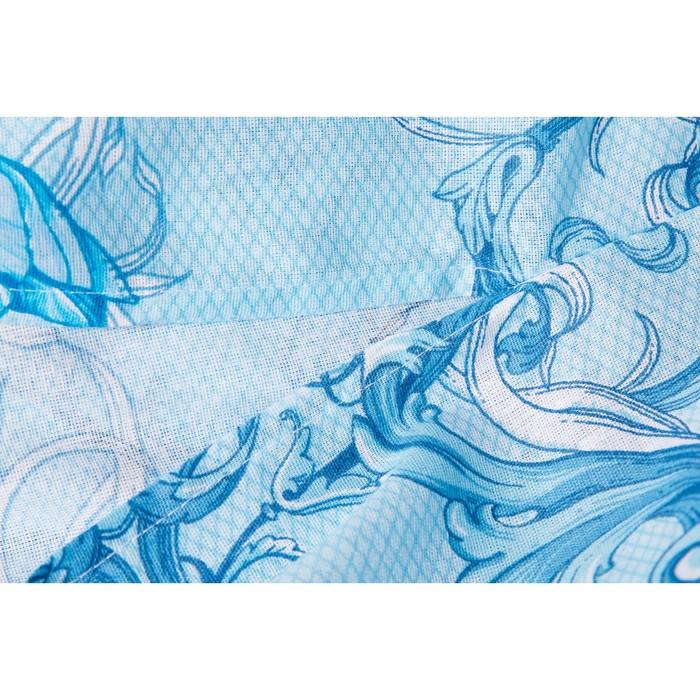 Постельное бельё Евро Ночь Нежна «Лунный свет», цвет синёный, 200х220, 200х220см, 70х70см — 2 шт