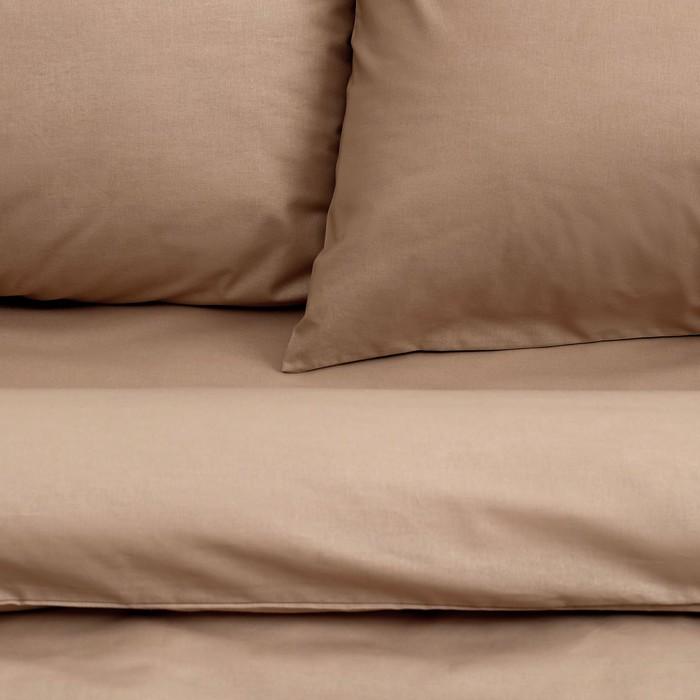 Постельное бельё «Этель» 2 сп. Арома Поплин 180×210 см, 200×220 см, 50×70 см - 2 шт., Корица , 125 г/м², 100% хл