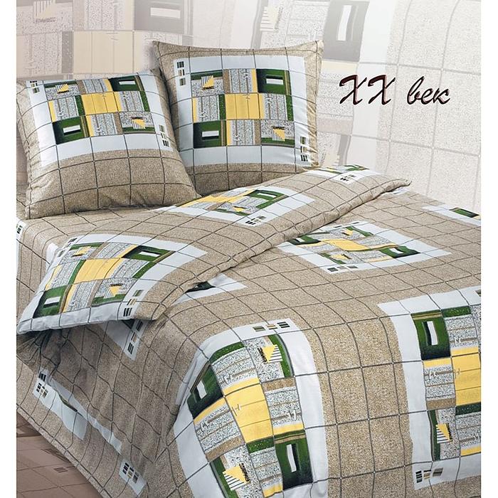 Постельное бельё евро Сударушка XX век 205×217см, 220×240 см, 70×70 см 2 шт., бязь, 125 г/м²