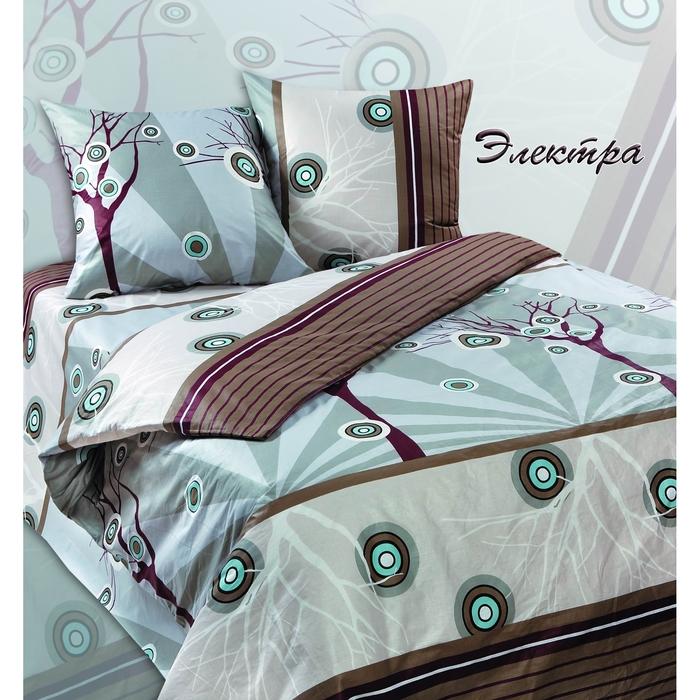 Постельное бельё евро Сударушка Электра 205×217см, 220×240 см, 70×70 см 2 шт., бязь, 125 г/м