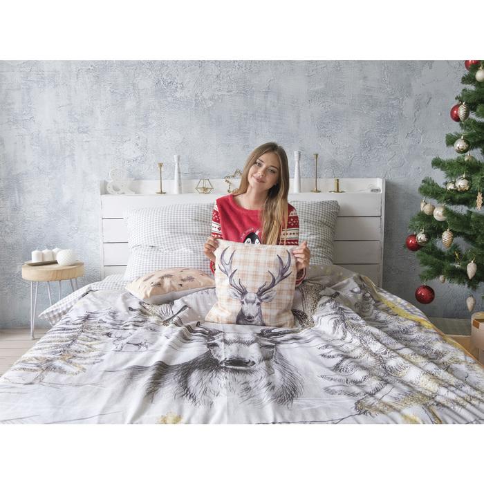 Постельное бельё «Этель» Winter story, 1,5-сп., 143 × 215 см, 150 × 214 см, 70 × 70 см, 2 шт., поплин
