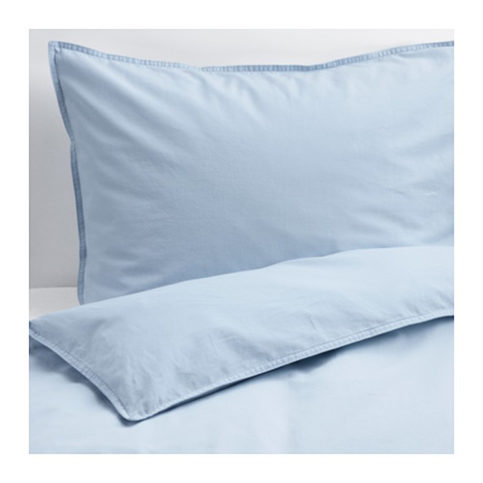 КПБ ЭНГСЛИЛЬЯ, размер 150х200 см, 50х70 см-1 шт., цвет голубой