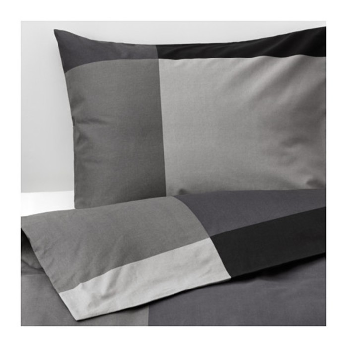 КПБ БРУНКРИСЛА, размер 150х200 см, 50х70 см-1 шт., цвет чёрный